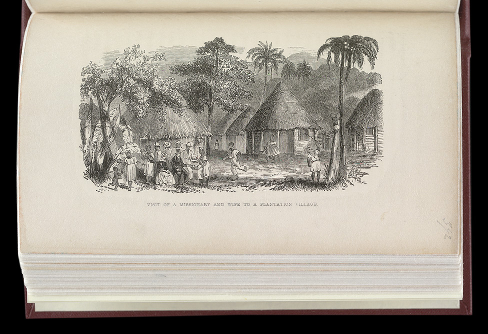 Visit Of A Missionary And Wife To A Plantation Village